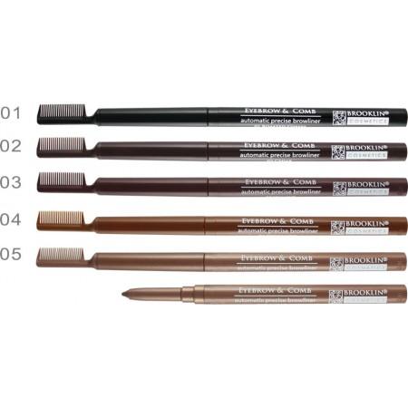 BROOKLIN Автоматичен молив за вежди с гребен