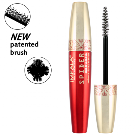IMPALA SPIDER Mascara with patented brush for volume and separation